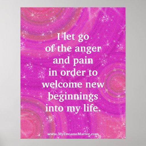 Positive Affirmation Forgiveness Anger Management Posters