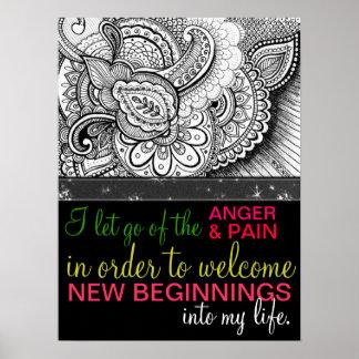 Positive Affirmation Forgiveness Healing Energy Poster