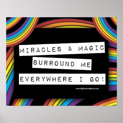 Positive Affirmation Miracle Magic LGBT Rainbow Print