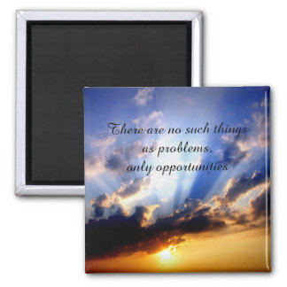 Positive Affirmation motivation about challenges Square Magnet