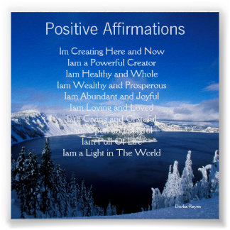 Positive Affirmations Poster