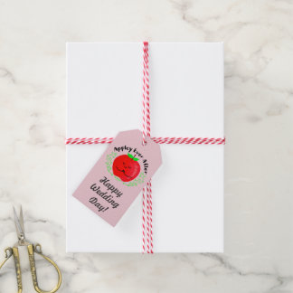 Positive Apple Pun - Appley Ever After Gift Tags