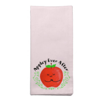 Positive Apple Pun - Appley Ever After Napkin