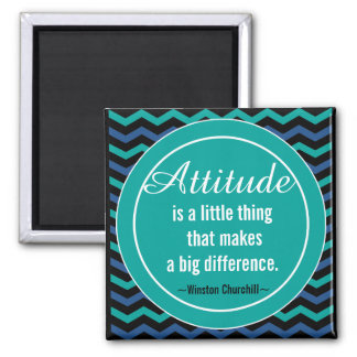 Positive Attitude Churchill Quotation Motivational Magnet