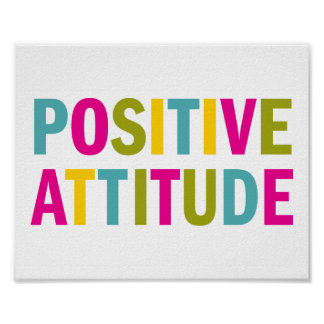 Positive Attitude in bright colors Poster