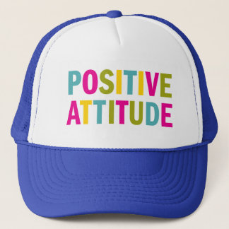Positive Attitude in bright colors Trucker Hat