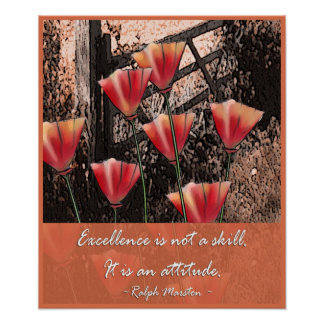 Positive attitude words - Excellence Poster