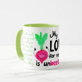 Positive Beet Pun - My Love for Veggies Mug