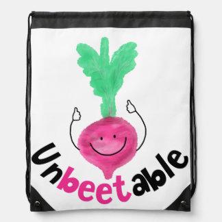 Positive Beet Pun - Unbeetable Drawstring Bag