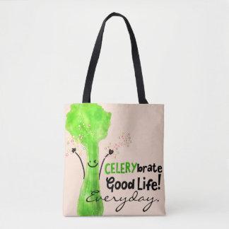 Positive Celery Pun - Celerybrate Good Life Tote Bag