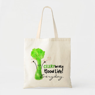 Positive Celery Pun - Celerybrate Good Life Tote Bag