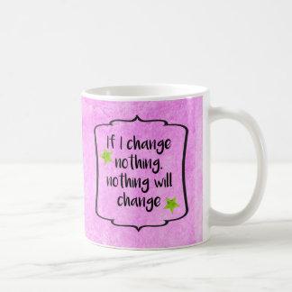 Positive Change Diet Health Motivation Quote Basic White Mug