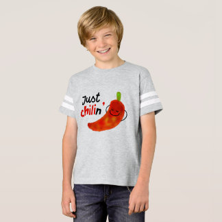 Positive Chili Pepper Pun - Just Chilin T-Shirt