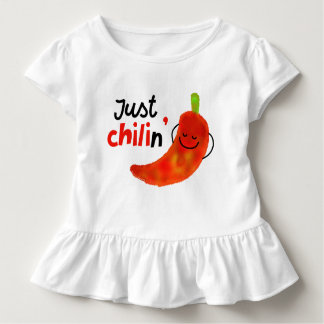 Positive Chili Pepper Pun - Just Chilin Toddler T-Shirt