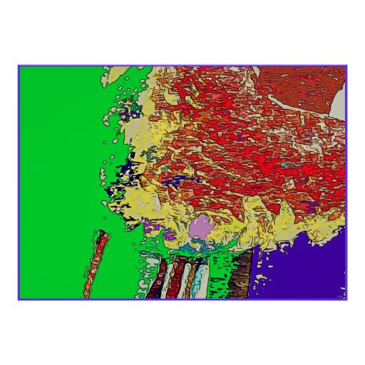 Positive Emergence Expressionism Art Poster