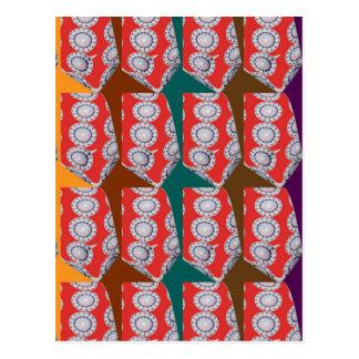 Positive Energy - CHAKRA Red Circles Tie Fashion Postcard