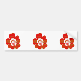 Positive Energy Flower Circles Fire Flare LOWPRICE Car Bumper Sticker