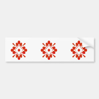 Positive Energy Flower Circles Fire Flare LOWPRICE Bumper Sticker