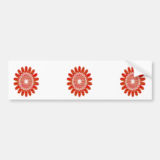 Positive Energy Flower Circles Fire Flare LOWPRICE Bumper Stickers