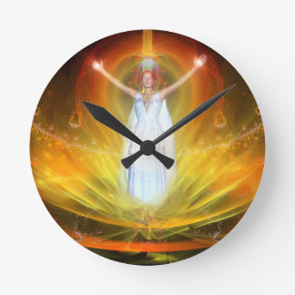 Positive Energy Goddess Round Clock