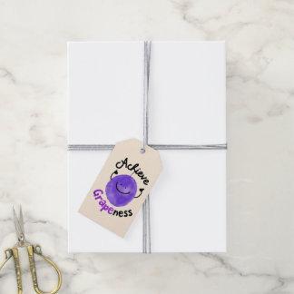 Positive Grape Pun - Achieve Grapeness Gift Tags