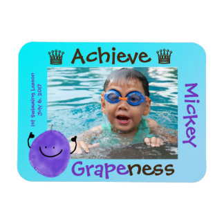 Positive Grape Pun - Achieve Grapeness Magnet