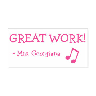 "Positive ""GREAT WORK!"" Marking Rubber Stamp"