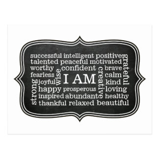 Positive I AM Daily Affirmations for Success Postcard
