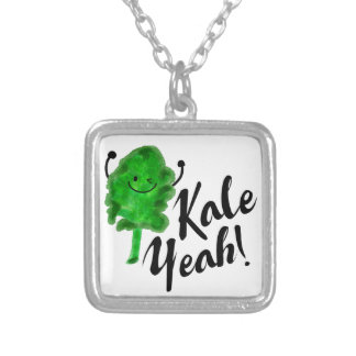 Positive Kale Pun - Kale Yeah! Silver Plated Necklace