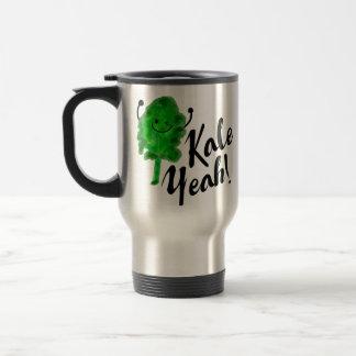 Positive Kale Pun - Kale Yeah! Travel Mug