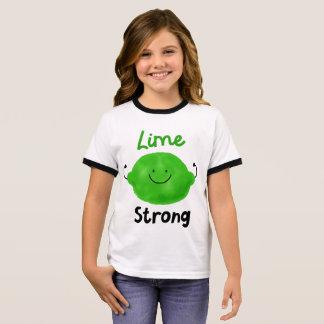 Positive Lime Pun - Lime Strong Ringer T-Shirt