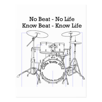 Positive message for drummers, musicians, dancers postcard