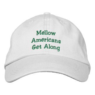 Positive message of unity embroidered hat