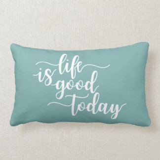 Positive Message Typography Lumbar Cushion