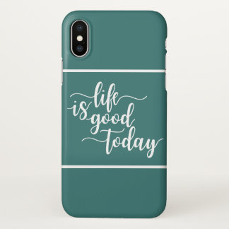 Positive Message Typography Style iPhone X Case