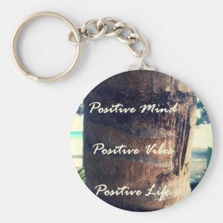 Positive Mind, Positive Vibe, Positive Life Key Ring