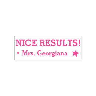 "Positive ""NICE RESULTS!"" Grading Rubber Stamp"