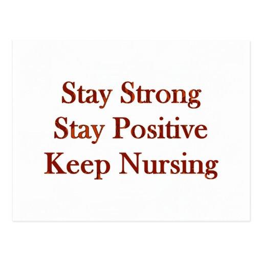 Positive Nurse Post Card