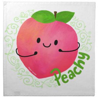 Positive Peach Pun - Peachy Napkin