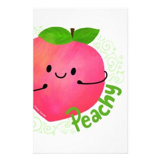 Positive Peach Pun - Peachy Stationery