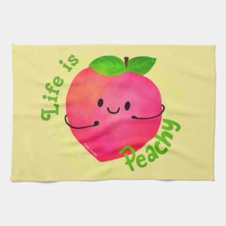 Positive Peach Pun - Peachy Tea Towel