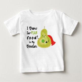 Positive Pear Pun - I Grow SuPear Food Baby T-Shirt