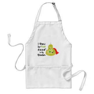 Positive Pear Pun - I Grow SuPear Food Standard Apron