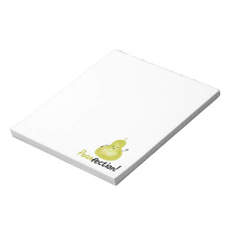 Positive Pear Pun - Pearfection Notepad