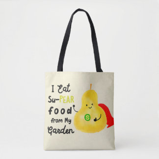 Positive Pear Pun - SuPear Food from my Garden Tote Bag