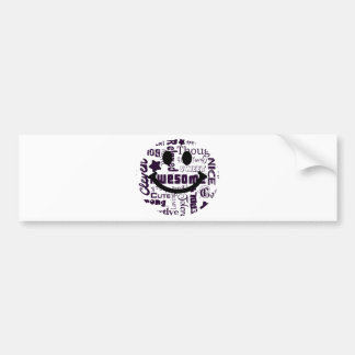 Positive qualities you have Smiley Bumper Sticker