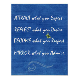 Positive Quote Affirmations Poster