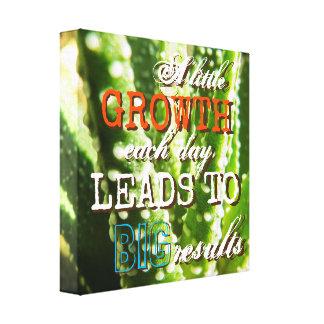 Positive Quote Plant Canvas Print