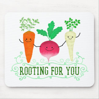 Positive Root Pun - Rooting for you Mouse Pad