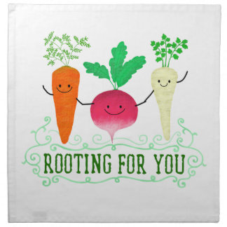 Positive Root Pun - Rooting for you Napkin